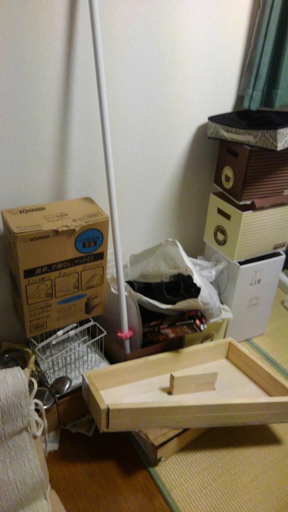 不用品回収の作業前