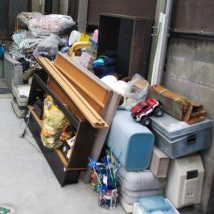 粗大ゴミ回収の作業前写真